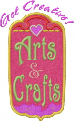 Hobby Caption - Arts & Crafts embroidery design