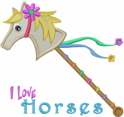 Rainbow Hobby Horse  embroidery design