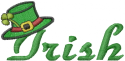 Irish St Patricks Day embroidery design