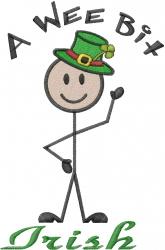 St. Patricks Stick Figure  embroidery design