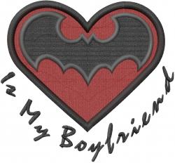 Love Batman embroidery design