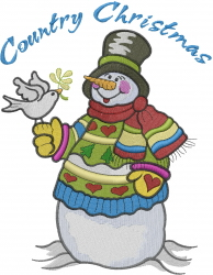 Patchwork Snowman  embroidery design
