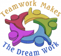 Teamwork Logo embroidery design