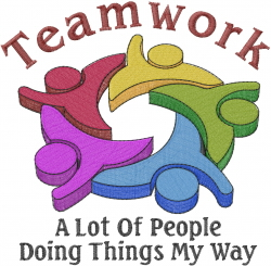 Teamwork Logo embroidery design