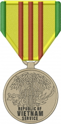 Vietnam Service Medal embroidery design