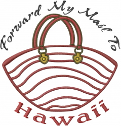 To Hawaii Bag Applique embroidery design