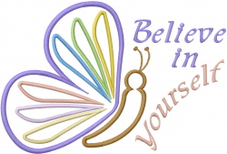 Believe Butterfly Applique embroidery design
