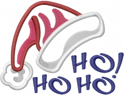 Ho Ho Hat Applique embroidery design