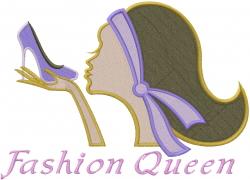 Fashion Queen embroidery design