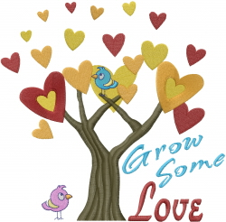 Grow Some Love embroidery design