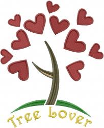 Retro Tree Lover embroidery design