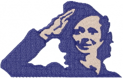 Military Woman Salute embroidery design