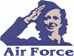 Military Woman Air Force embroidery design