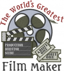 Worlds Greatest Film Maker embroidery design