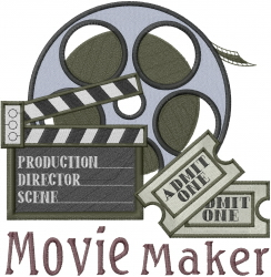 Movie Maker embroidery design