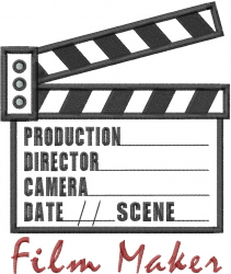 Film Maker Clapboard Applique embroidery design
