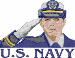U.S. Navy Girl embroidery design