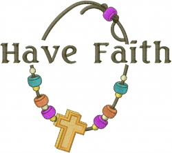 Have Faith Cross Accessory embroidery design