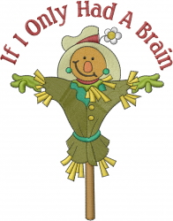If I Only... Scarecrow embroidery design