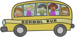 School Bus - Happy Kids embroidery design
