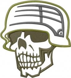 Military Skull Applique embroidery design