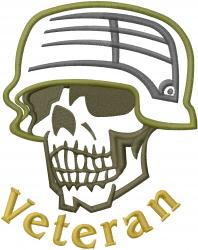 Skull Veteran Applique embroidery design