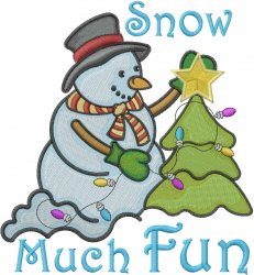 Snow Much Fun embroidery design