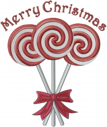 Merry Christmas Lollipops embroidery design