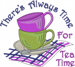 Always Time For Tea embroidery design