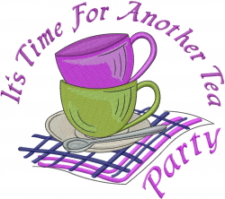 Tea Cups Party embroidery design