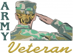 US Army Girl Veteran embroidery design