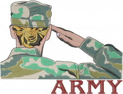 US Army Girl embroidery design