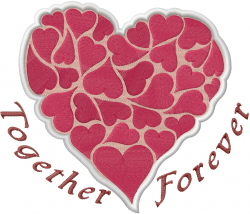 Together Forever Heart embroidery design