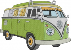 VW Bus embroidery design