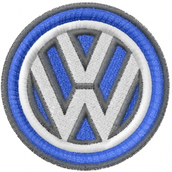 VW Logo embroidery design