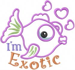 Exotic Fish Applique embroidery design