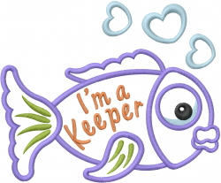 Im A Keeper Applique embroidery design
