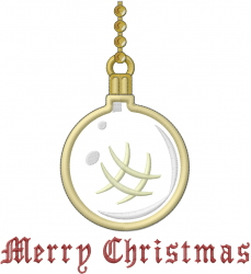 Merry Christmas Ornament Applique embroidery design
