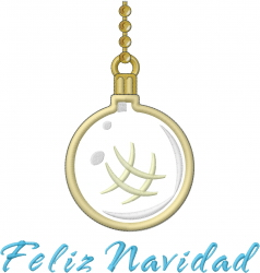 Feliz Navidad Ornament Applique embroidery design