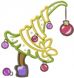 Mini Xmas Tree Applique embroidery design