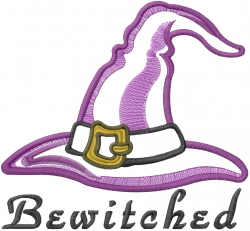 Bewitched Hat Applique embroidery design