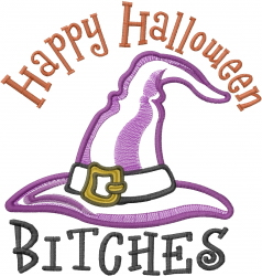 Halloween Bitches Applique embroidery design