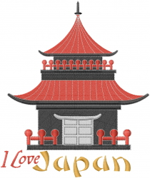 Japan House embroidery design