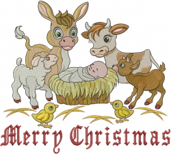 Baby Manger embroidery design