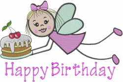 Birthday Fairy embroidery design