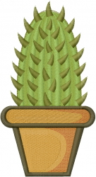 Cactus Potted Plant embroidery design
