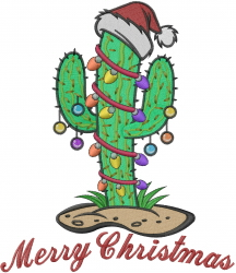 Christmas Cactus embroidery design