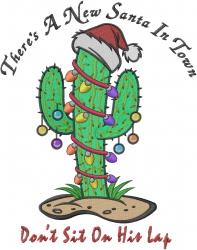 Christmas Cactus Humorous embroidery design