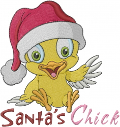 Santas Chick embroidery design