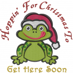 Christmas Frog embroidery design